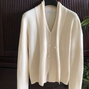 Brunello Cucinelli Sweaters - Cream cashmere cardigan -Brunello Cucinelli